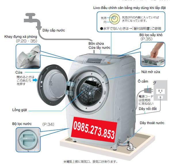 Sửa máy giặt nội địa Nhật điện 110v